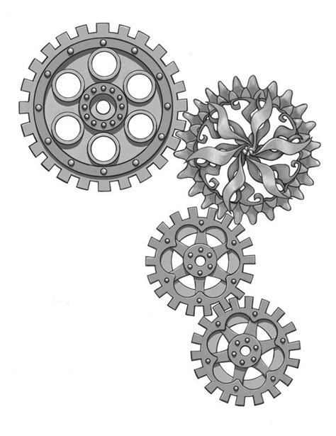 gear tattoo design steunk gears drawings drawing gear drawing