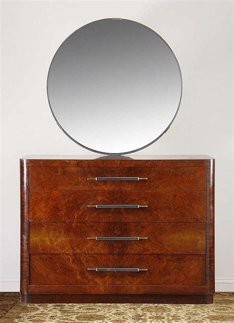 art deco dresser round mirror american art deco dresser with streamline mirror for sale