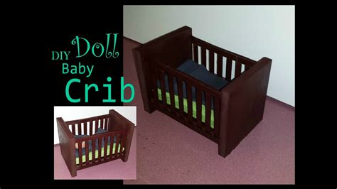 how to make a doll baby crib