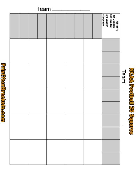 football squares template blank new calendar template site