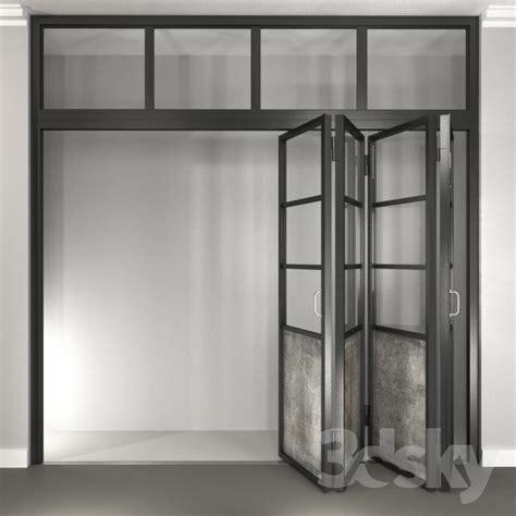 Folding Steel Doors by 3d Models Window Door Steel Folding Door