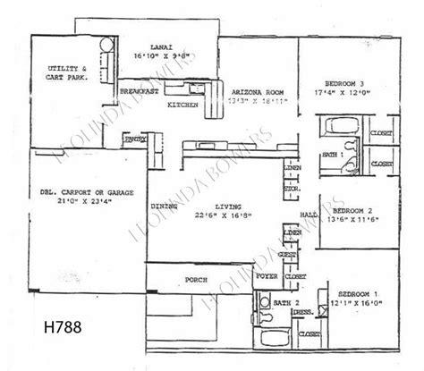 sun city west floor plans sun city west arcadia model floor plan