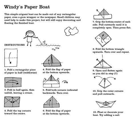 Paper Boat Folding - windy s windy s boat