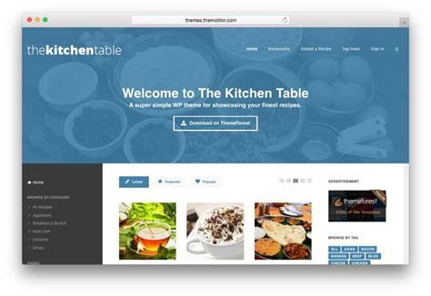 theme wordpress kitchen 7 best wordpress food blog themes