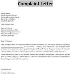 business complaint letter template doc 585600 12 formal complaint letter templates free