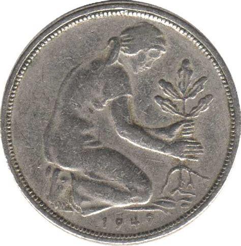 50 pfennig bank deutscher länder 1950 g 50 pfennig bank deutscher l 228 nder allemagne