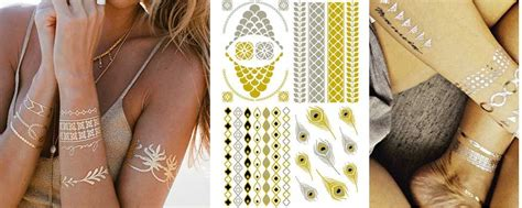gold body tattoo jewelry gold and silver metallic tattoos metallic tattoos