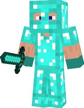 minecraft coloring pages diamond armor steve steve in diamond armor steve diamond armour novaskin