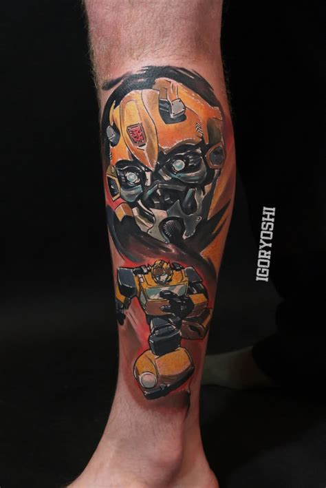 16 bumblebee transformer tattoos
