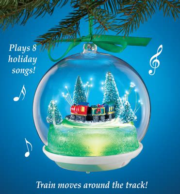 moveable christmas train ornaments musical animated ornament from collections etc