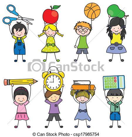scuola clipart clipart vettoriali di scuola oggetti bambini bambini