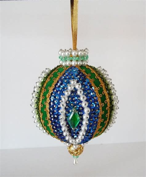 Handmade Beaded Ornaments - 78 images about bead sequin ornaments on