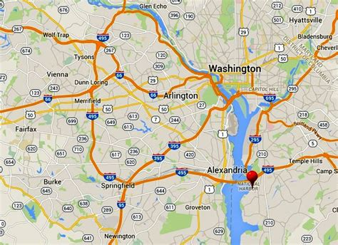 map of maryland near dc national harbor map and directions national harbor md