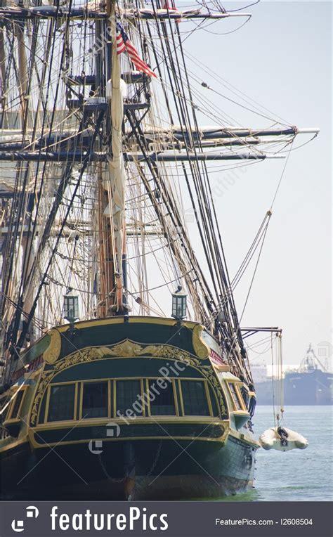 watercraft pirate ship rear view stock image