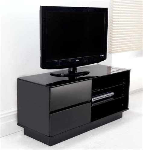 42 inch base cabinet with drawers black gloss two drawer glass shelf lcd plasma stand