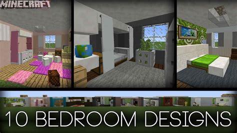minecraft  bedroom designs  tips youtube