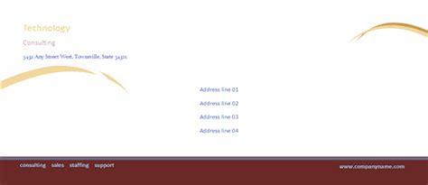 envelope template word 2013 business envelope burgundy wave design free