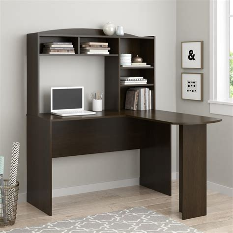 Ameriwood Furniture Sutton L Desk With Hutch Espresso Ameriwood Desk With Hutch