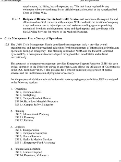 Download Crisis Management Plan Template For Free Page 18 Formtemplate Crisis Management Plan Template 2