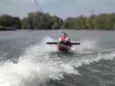 hydrofoil behind boat hydrofoil kayak youtube