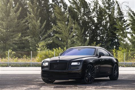 roll royce wraith black ag luxury wheels rolls royce wraith forged wheels