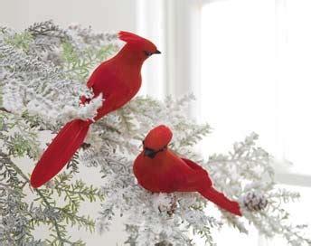 feathered red cardinal xmas ornament raz cardinal clip on feathered bird ornament set of 2 birds are lightweight