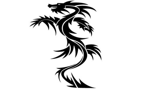 dragon tattoo vector free dragon tattoo vector vector free download