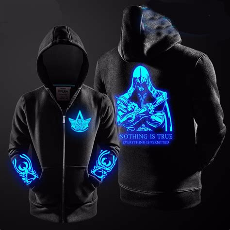 Sweater Hoodie Assasins Creed Jaspirow Shopping assassins creed glow in the hoodie alaaexpress shopping