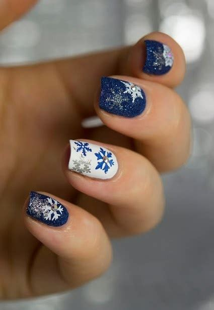 nail art winter tutorial 7 easy and simple snowflake nail art designs and snowflake