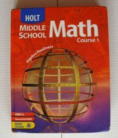 Pre Mba Math Books by Glencoe Pre Algebra Mathematics Math Textbook Middle