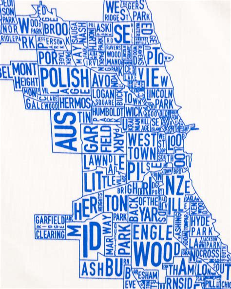 chicago neighborhoods map kids  shirt
