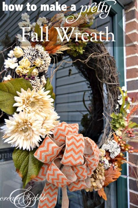 how to make a fall wreaths for front door how to make a fall wreath for front door how to make an