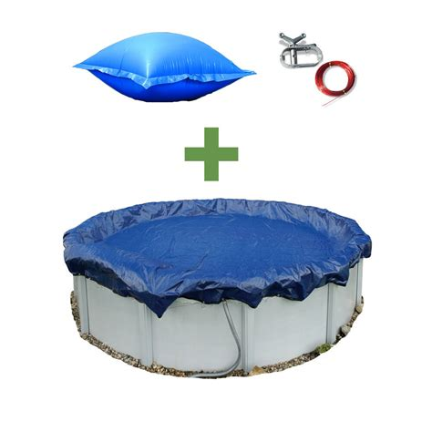 pool pillows for winter 24 ft swimming pool winter cover 4x8 air closing