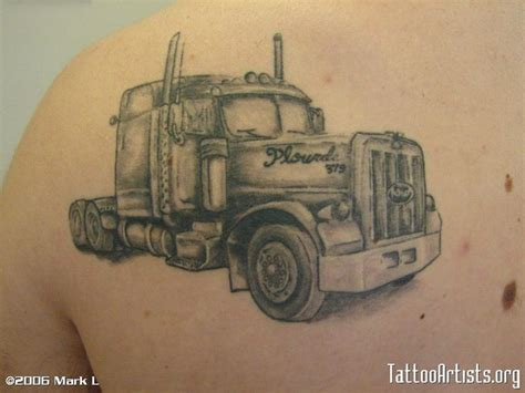 semi truck tattoos 22 best truck ideas images on