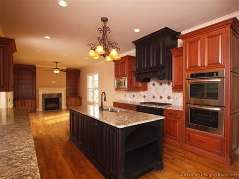 black and wood kitchen cabinets dark cherry color kitchen cabinets and isles best home