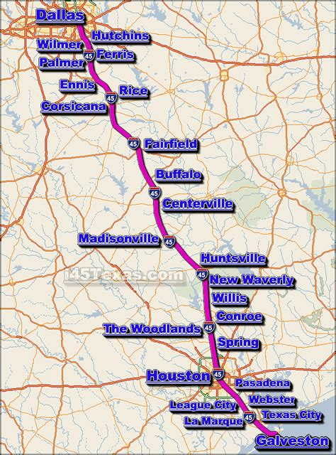 texas road closures map image gallery interstate 45 map