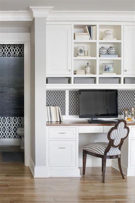 lovely kitchen features  built  desk  wood top
