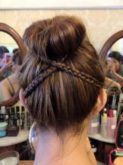easy sock bun with braid 5 different hair styles for the sock bun