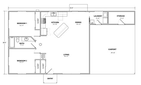 Very Basic House Plans Due To Related Simple Ranch Style Plan W22000sl Narrow Lot