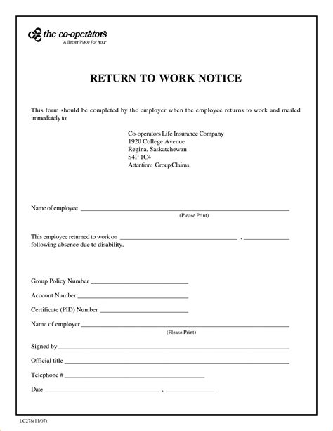 doctors note template for work 13 return to work letter from doctoragenda template sle
