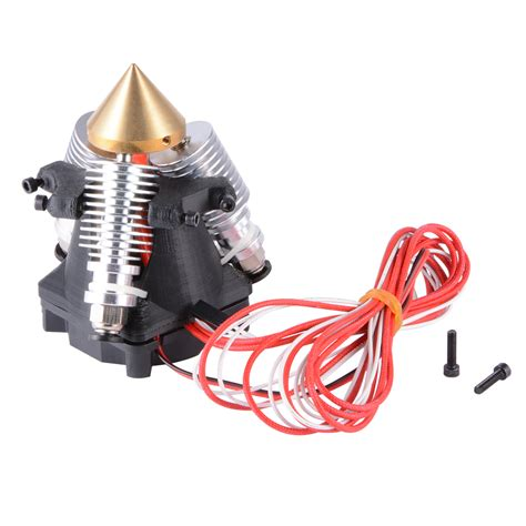 3d printer fan 3 in 1 out multi color extruder hotend with cool fan for