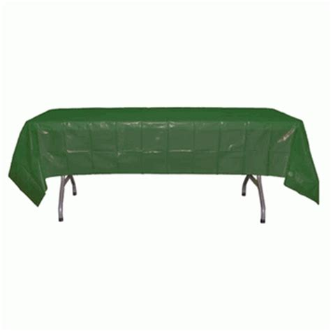green rectangular plastic tablecloths