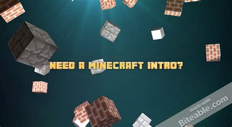 minecraft outro template maker minecraft intro maker