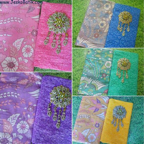 1 Set Kain Batik Print Prada Dan Embos 2 paket kain batik soft print dan kain embos ka26 batik