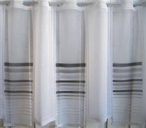 vorhang schwarz weiß gestreift scheibengardine wei 223 grau schwarz querstreifen 45 cm hoch