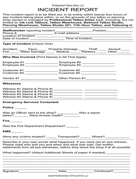 customer incident report form template 29 images of customer report template