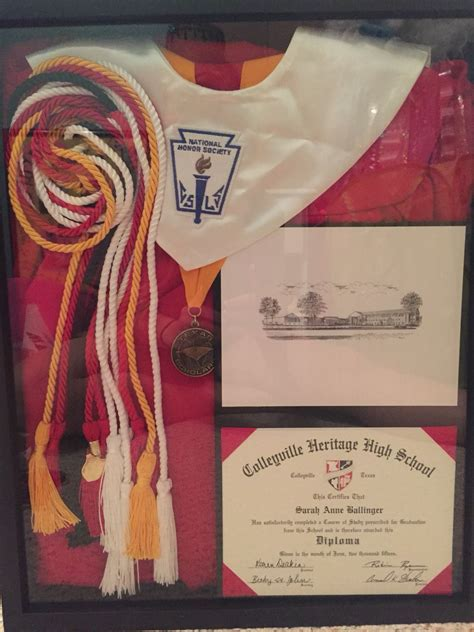 Mba School Cords by Graduation Shadow Box With Graduation Gown Cap Diploma