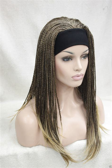 headband wigs 0000120 new brown mix golden blonde tip 3 4 wig with