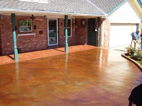 Diy Stained Concrete Patio by Beautiful Diy Concrete Stain Patio Deck