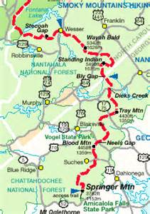 appalachian trail carolina map appalachian trail thru hike